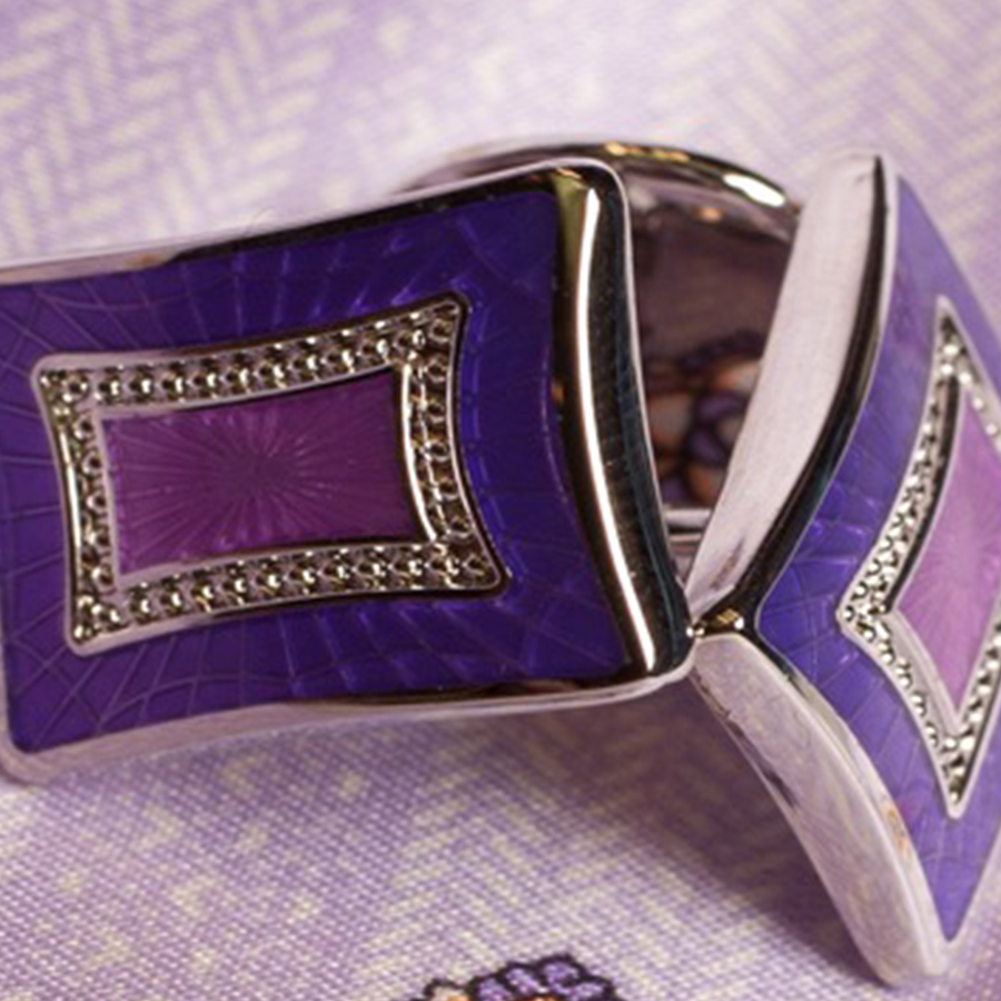 Bespoke Purple Cufflinks