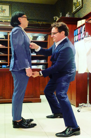 Custom Made Suit Fitting