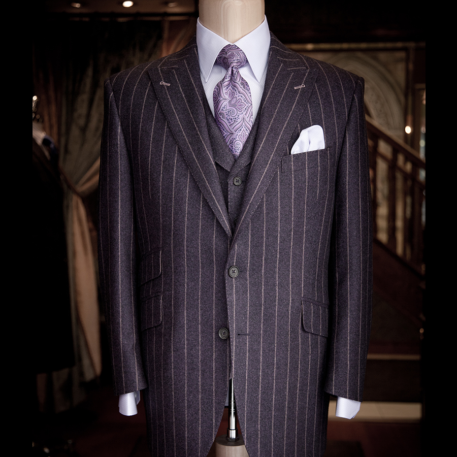 hand tailored suit made at at request of corporate client