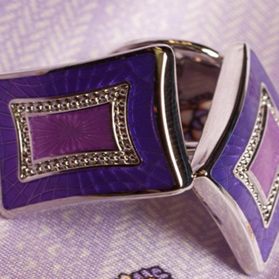 Bespoke Purple Cufflinks