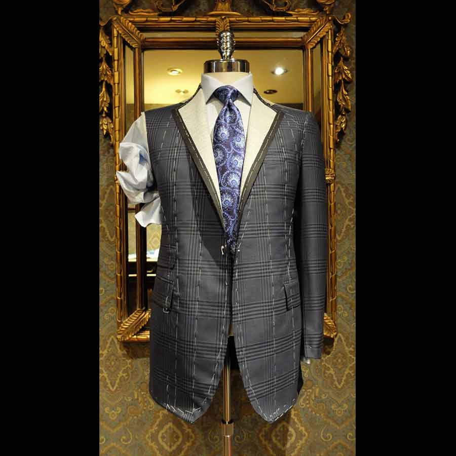 An example of a bespoke Suit that made Toronto vote Ferrigamo for best custom Tailoring