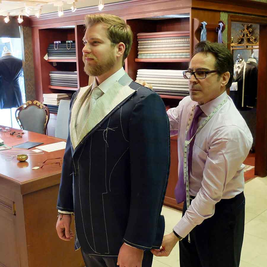 The custom wedding suits Toronto TJ ordered in Toronto
