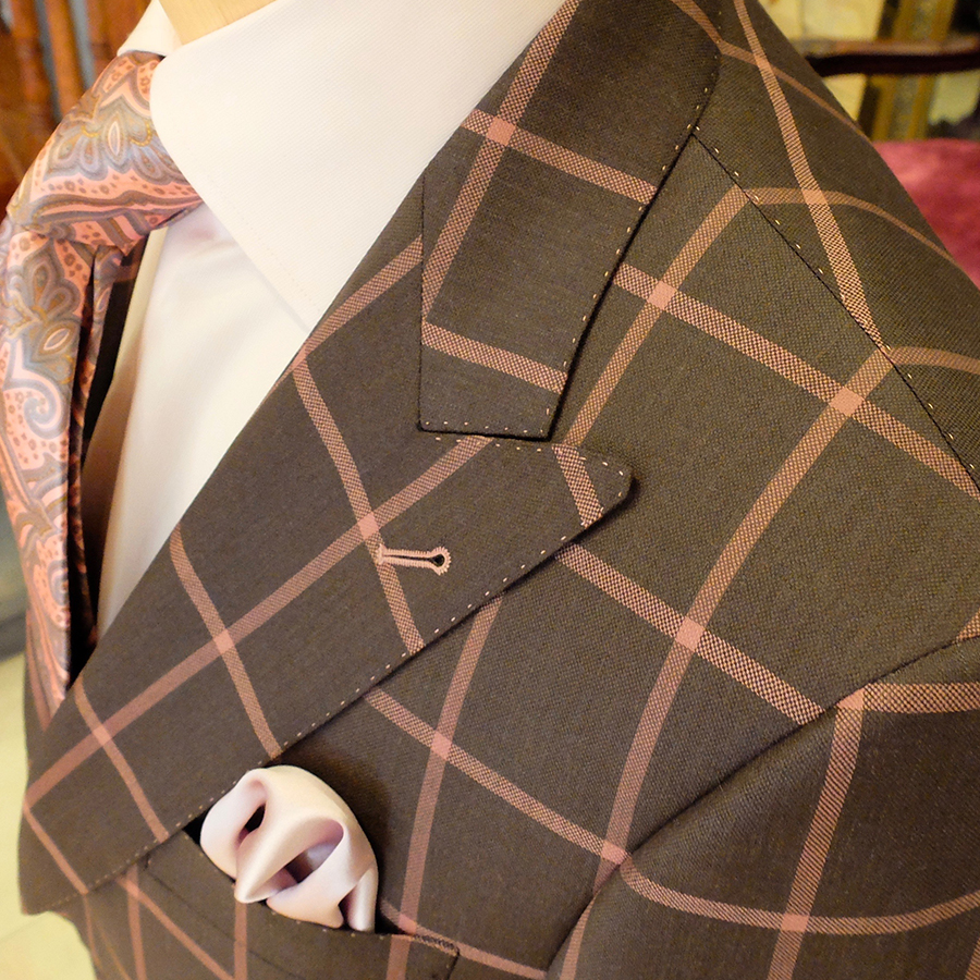 Only a custom Tailor from Toronto offers a piece like this