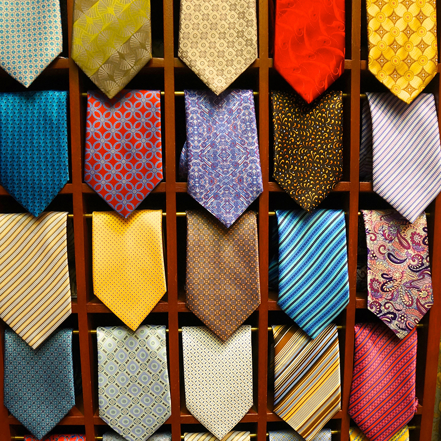 ties to match a bespoke suit