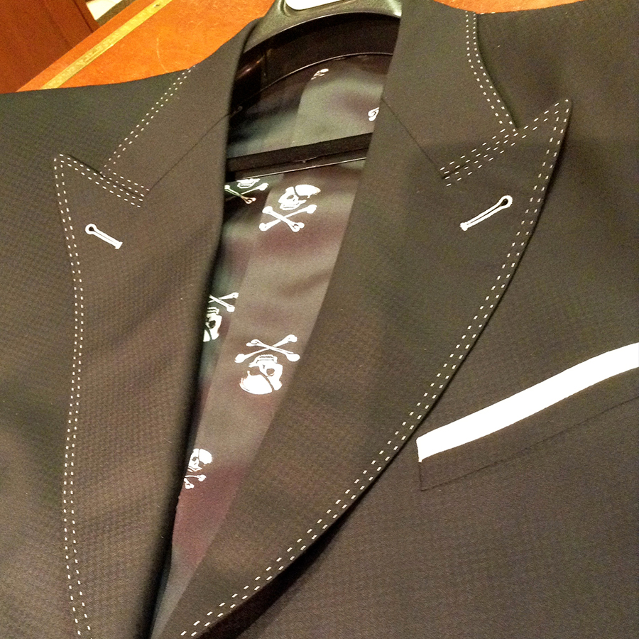 Black Suit Double Stitching