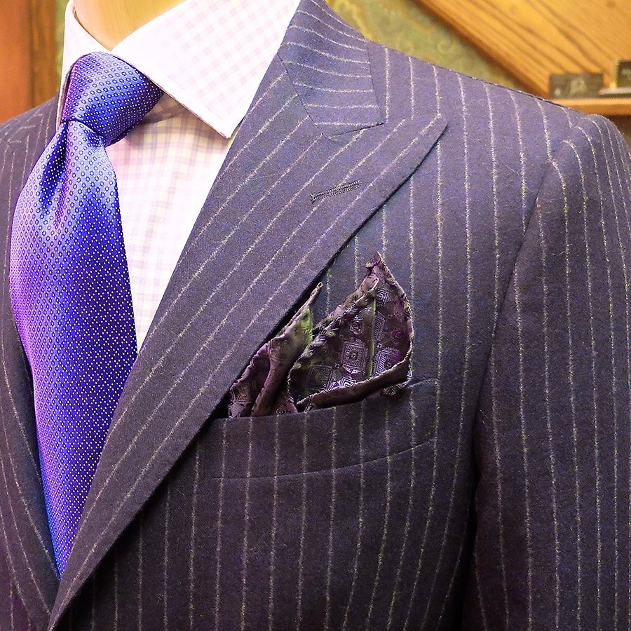 Grape Flannel Custom Suit