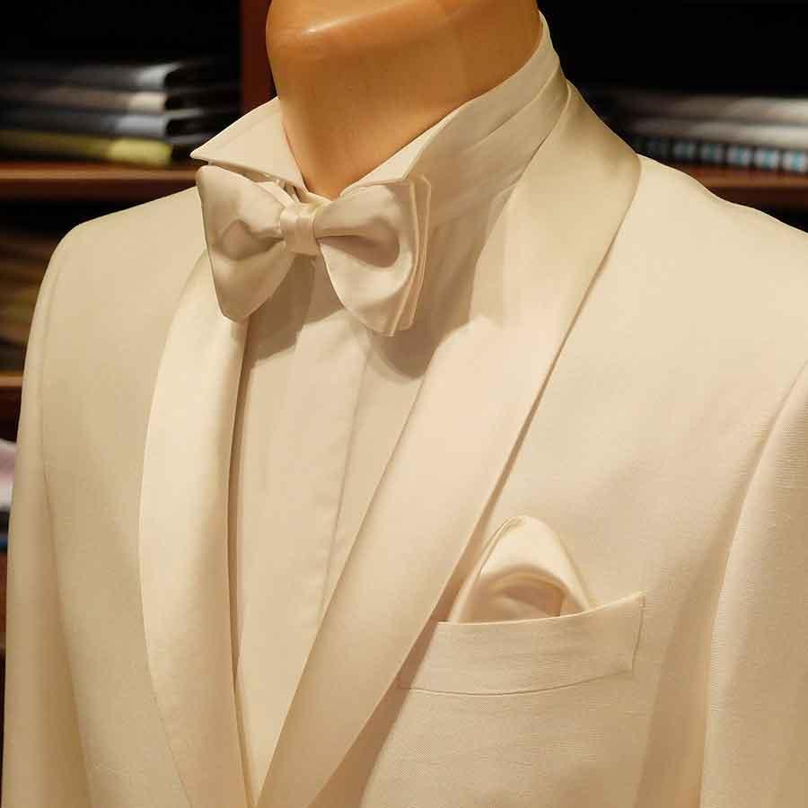A white summer custom tuxedo to rival them all!